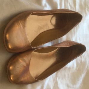 Rose Gold Nine West Flats